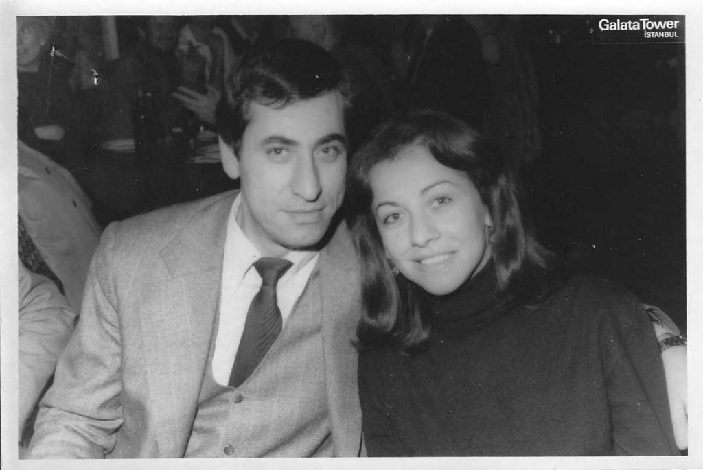 Galata Kulesinde eşim Tülin Damlıca ile. Şubat 1981.