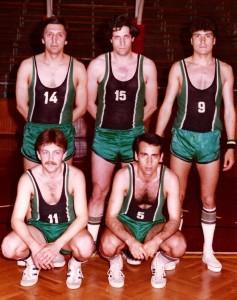 DSK Basketbol Takımı-5, Mayıs 1982, (Ayaktakiler: Ali, Ahmet, İsmail, Oturanlar: Halil, Eşref)