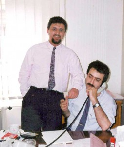 Vitsan'da aynı odayı paylaştığım değerli arkadaşım Levent Delibaş. Onun da şimdi kendi gözetim firması var.