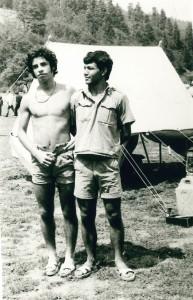 Yıl 1972 ya da 1973 İzci KampıAbant. Eşref Biryıldız(73), Selahattin Kayalar(73)